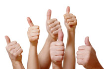 Hands showing thumbs up for EMR Software