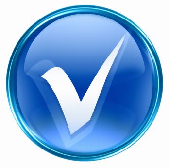 Check mark for EMR Software